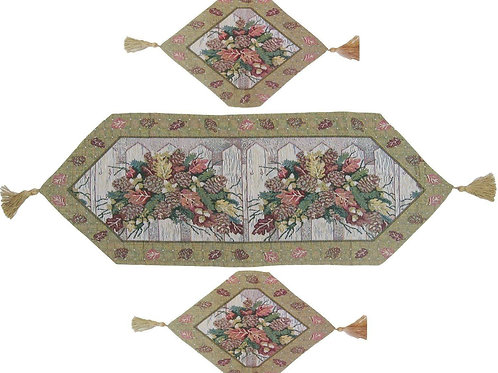 Christmas Fiesta Floral Woven Tapestry Table Runners