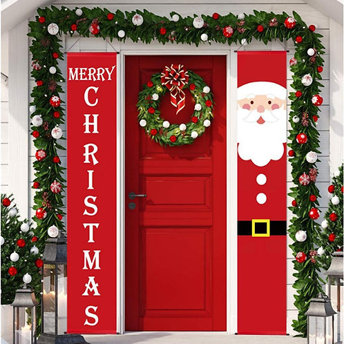 Santa Claus Outdoor Holiday Banner