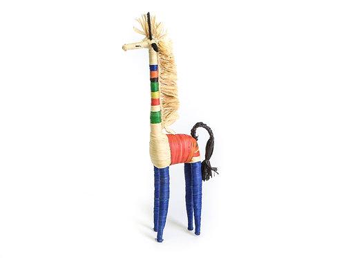 Primary Colors Raffia Giraffe Shelf Decor
