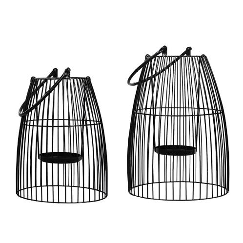 Birdcage-Style Metal Lanterns