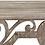 Thumbnail: Distressed Vintage Wood Scroll Wall Shelf