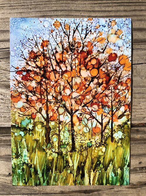 Happy Fall Trees Print