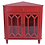 Thumbnail: Red Corner Cabinet with Hexagonal Inserts