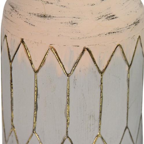 Bohemian Light Metal Table Vase