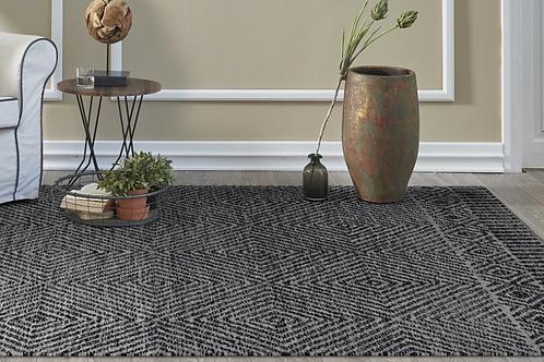 Grey Or Black Wool Rug