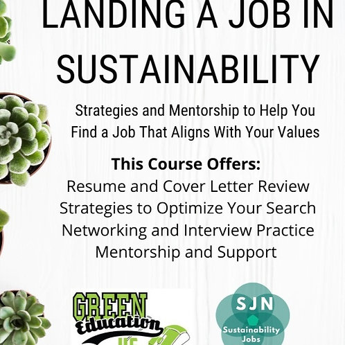 Landing a Job in Sustainability