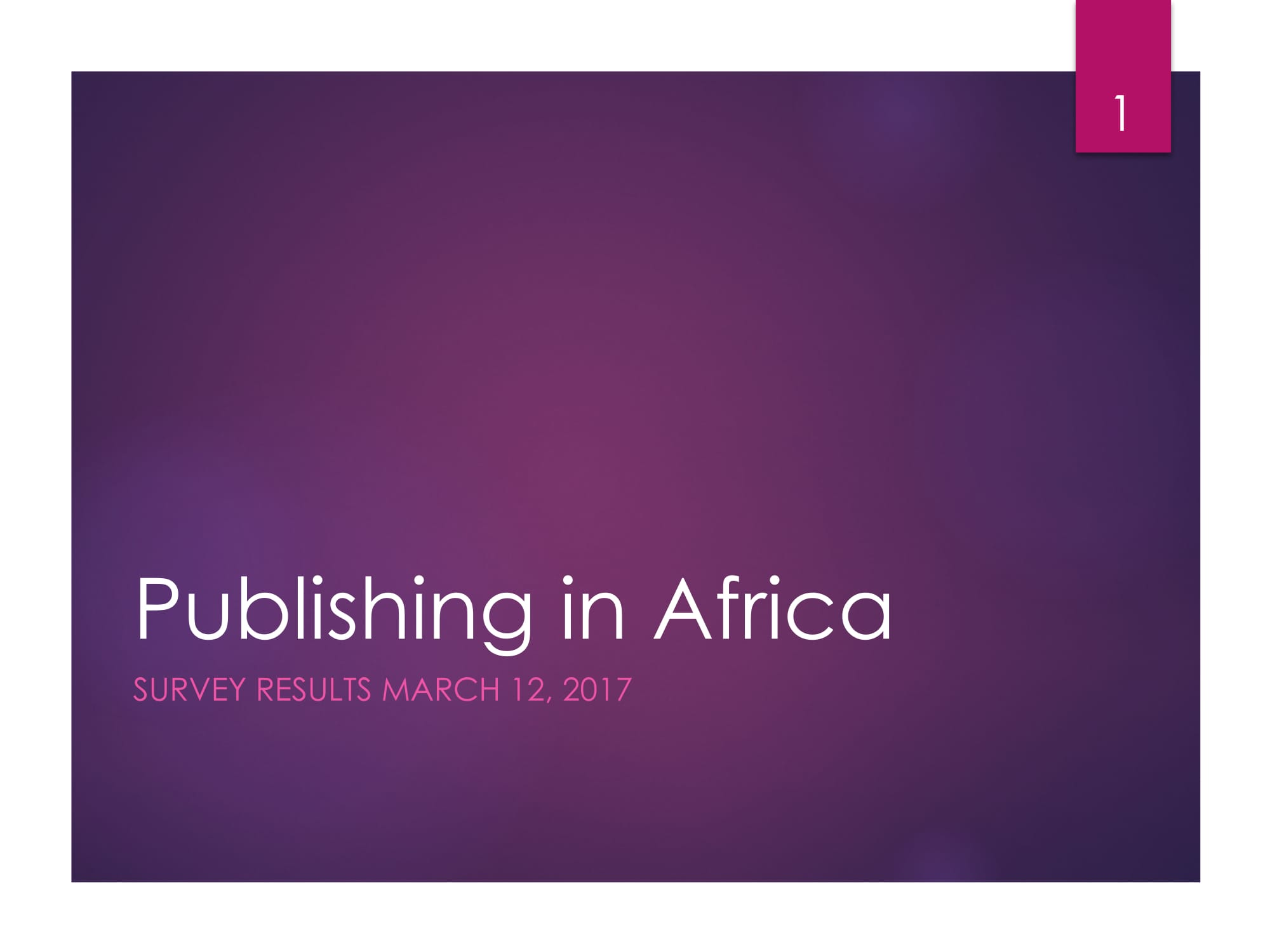 State of Publishing in Africa -01
