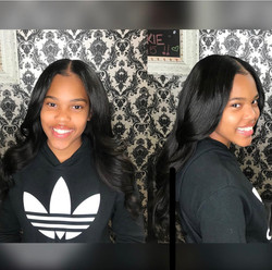 """Basic Sew In with """"leave out"""""""