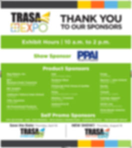 Sign 2_TRASA Expo_Thank you Sponsors_REV