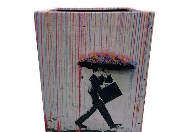 Porta Lápis Banksy Chuva Colorida