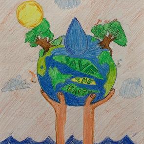 Save water to save animals, Kian Gabriel