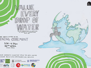 Kids of the world paint thoughts on protecting water in Christchurch Earth Day exhibition