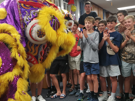 Celebrating Spring Festival with students from Christ's College