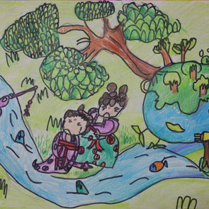 The flowing river, Yuchen Luo, Age9.jpeg