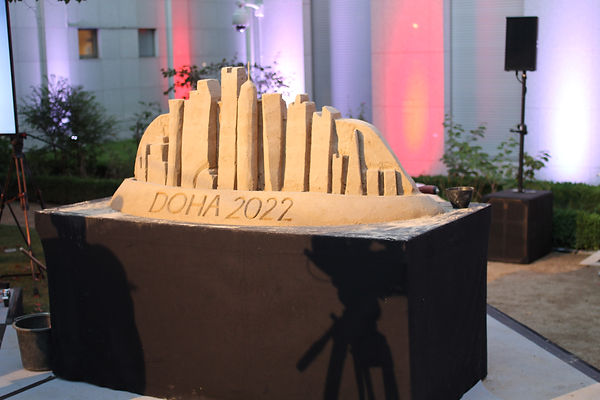 Sandskulptur DOHA