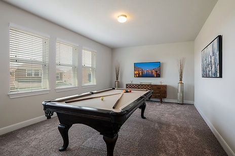 Game Room with Pool Table and TV in Hollering Pass Crash Pad