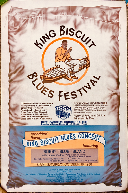 1986 King Biscuit Blues Festival Poster