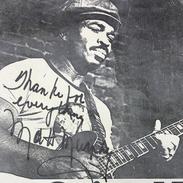 """Detail: Autograph of Matt """"Guitar"""" Murphy"""