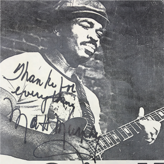 "Detail: Autograph of Matt ""Guitar"" Murphy"