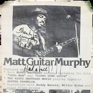 Poster - Matt Guitar Murphy Live @ SOB