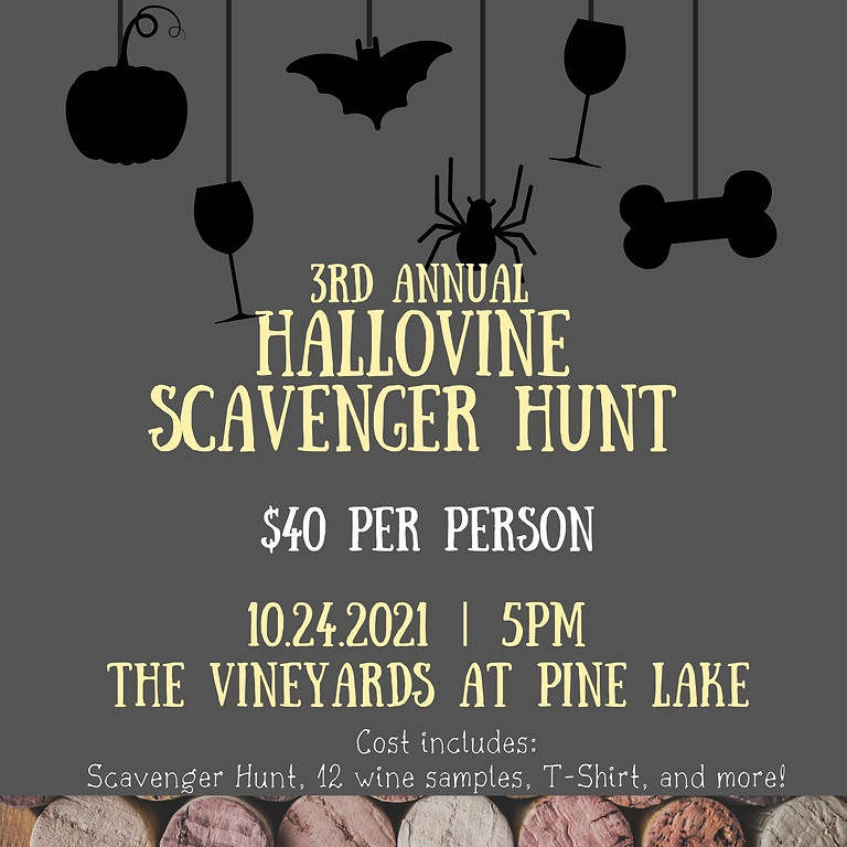 3rd Annual Hallovine Scavenger Hunt