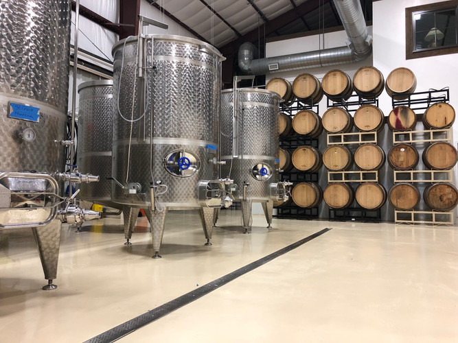 The wine production cellar