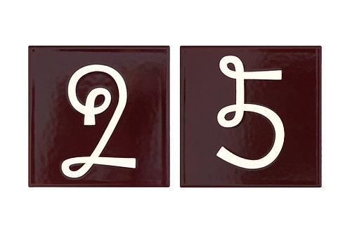"""Schwinn """"Loop"""" House Numbers"""