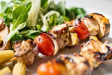 Poulet shish kebab