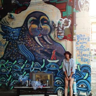 Mural in Victoria BC