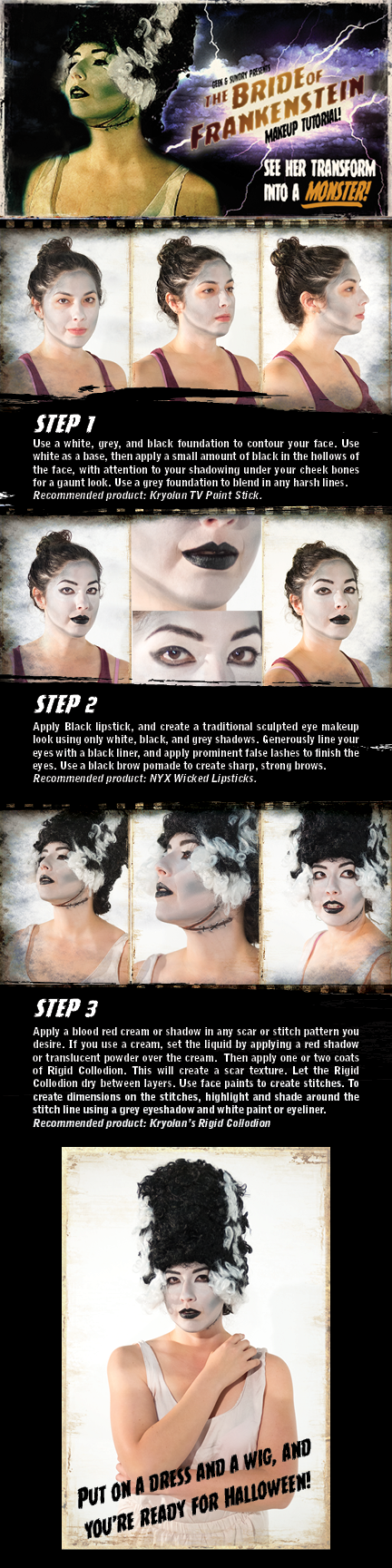 Bride of Frankenstein tutorial