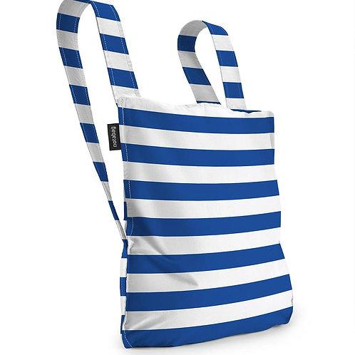 notabag - blue white stripe