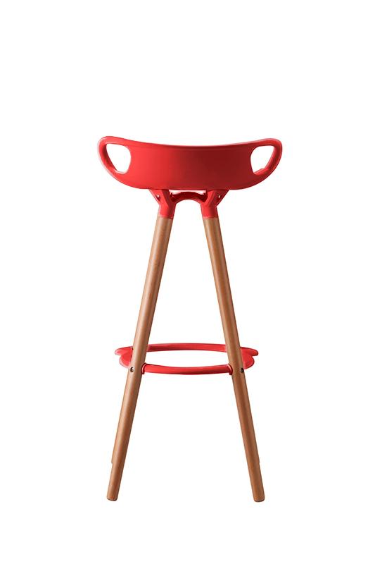 Taburete Eames Dsw.Taburete Eames Nordico Rojo