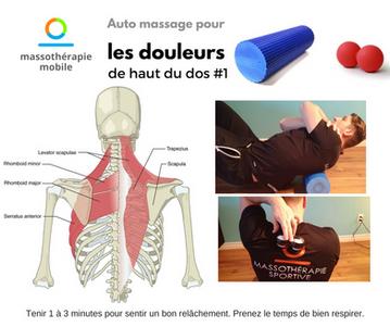 Auto massage pour les douleurs de haut du dos #1
