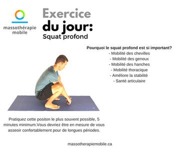 Exercice du jour: Squat profond