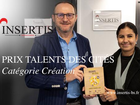 INSERTIS remporte le Prix Talents des Cités