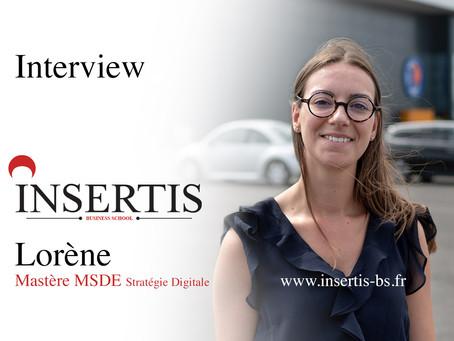 Interview : Lorène | Mastère Management en Stratégie et Développement d'Entreprise