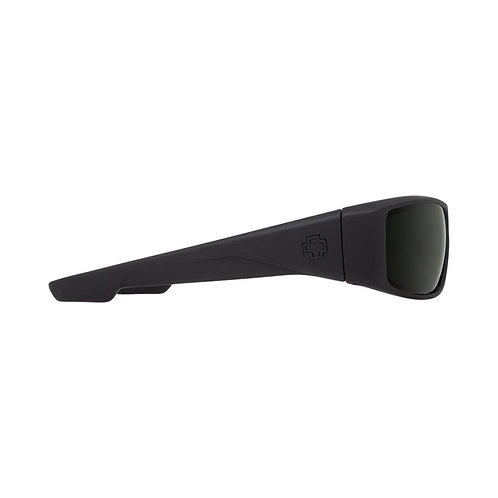 Spy Optic Logan Soft Matte Black Happy Grey Green Polarized