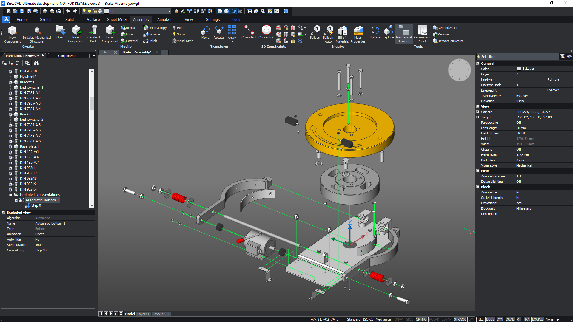 BricsCAD Mechanical (exploded view)