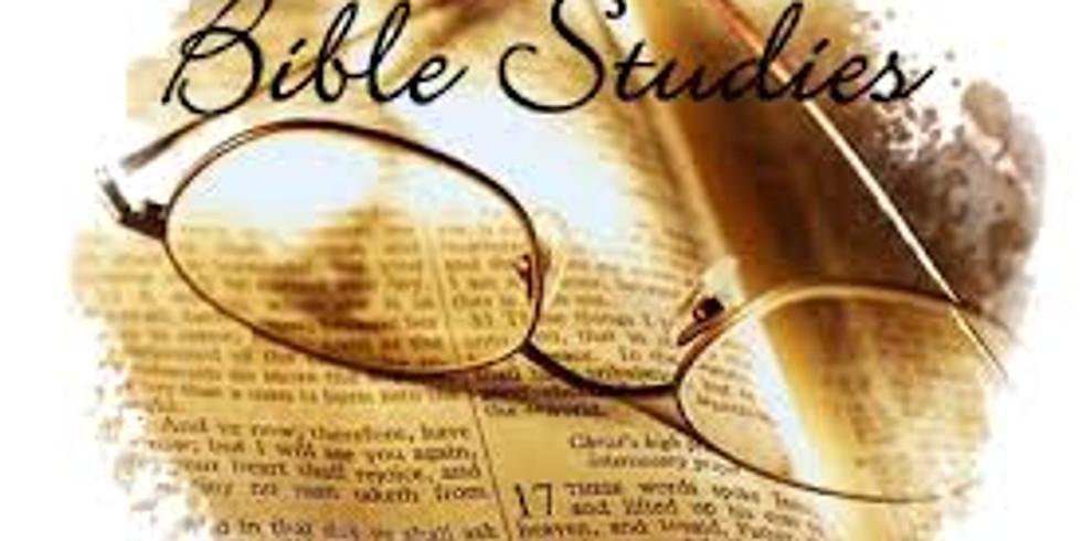 Wednesdays Evening Bible Study