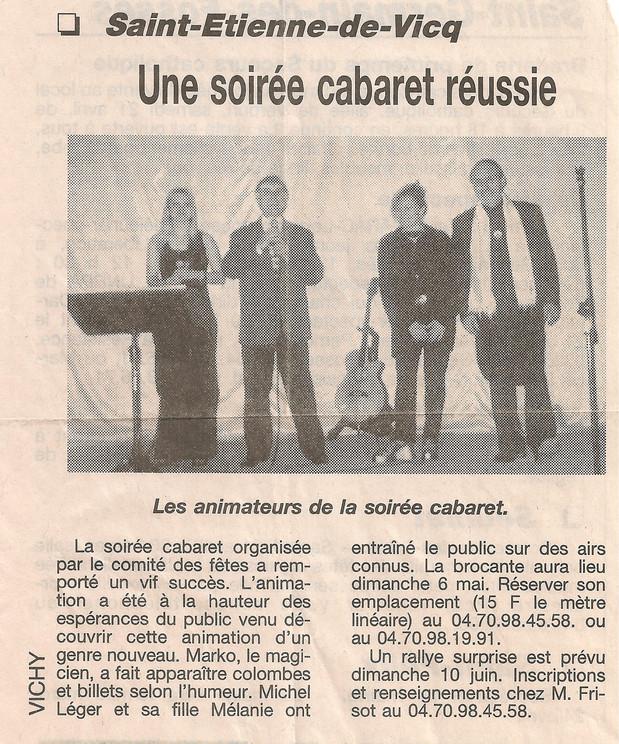 Soirée cabaret St Etienne De Vic Mélanie