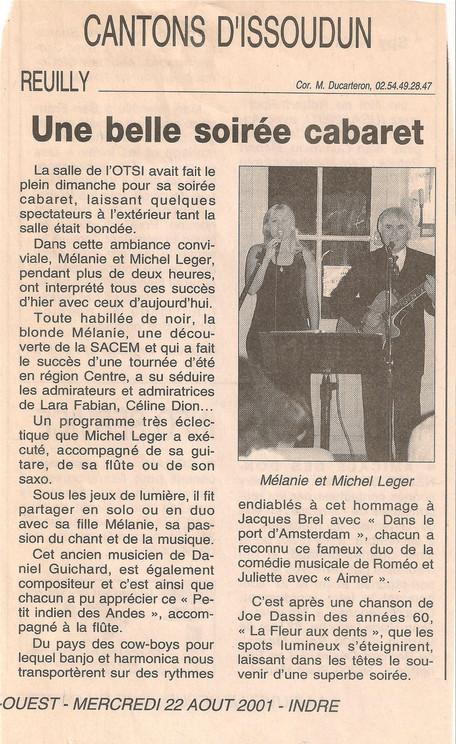 Soirée cabaret Issoudun Mélanie Léger