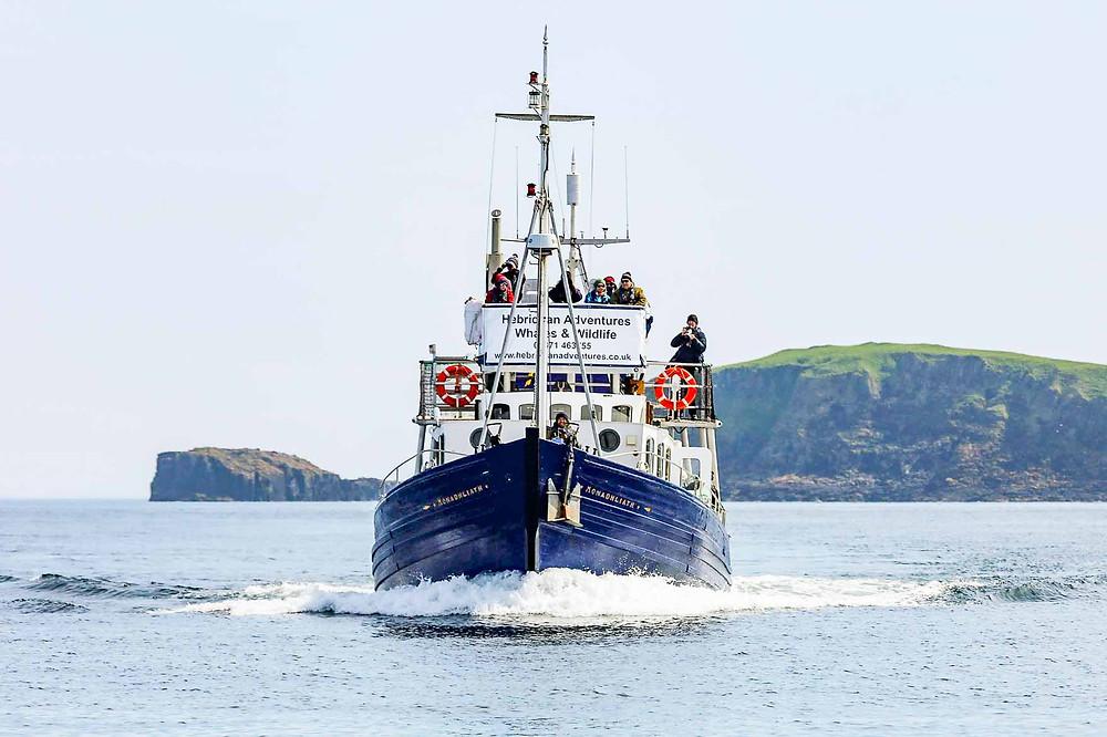 Hebridean Adventures' boat, the MV Monadhliath.