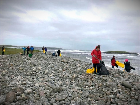 Cleaning the beaches of the Outer Hebrides