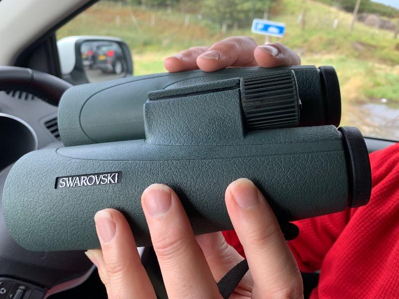Side view of Swarovski SLC 8x56 binoculars