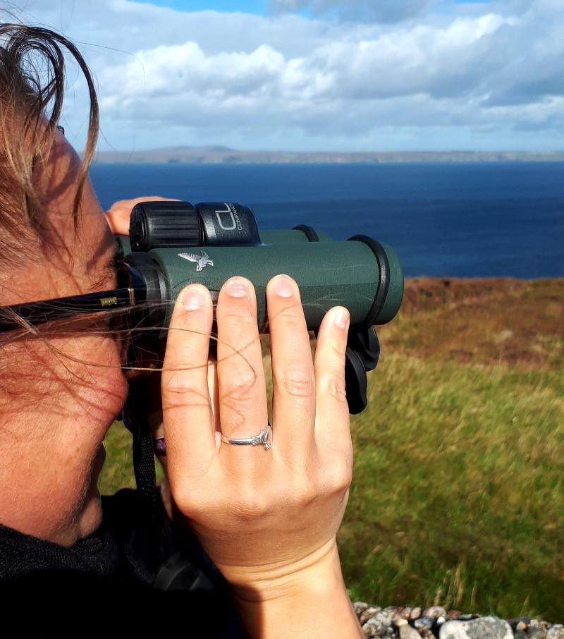 CL Companion binoculars being used.
