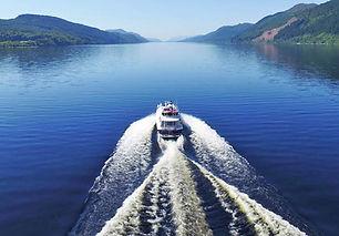 Glenliath charter boat on Loch Ness, Scotland.