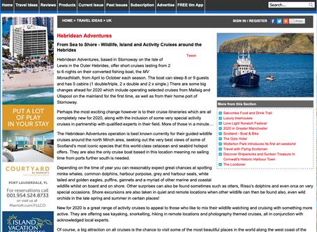TLM Magazine features Hebridean Adventures