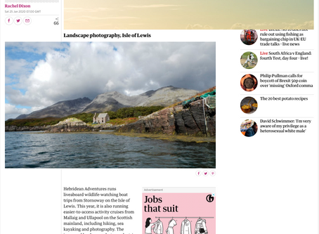 The Guardian features our photography cruise