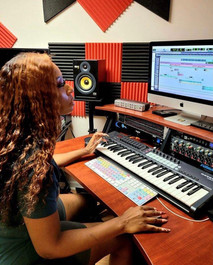 Rapper Glam Graham in the Studio