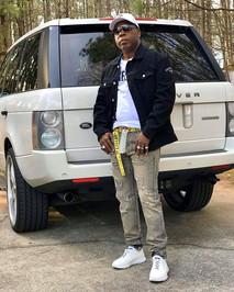 DJ Fury with his Range Rover